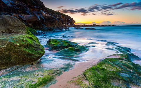 High-resolution desktop wallpaper Curl Curl Beach Sunrise by snowlee