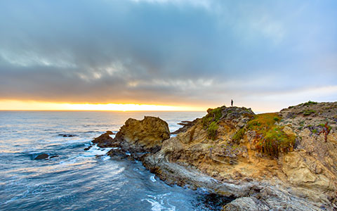 High-resolution desktop wallpaper Fort Bragg Sunset by jdphotopdx