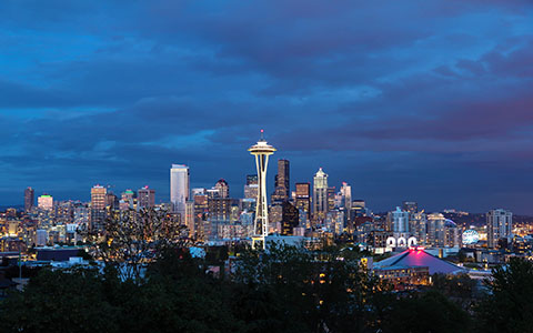 High-resolution desktop wallpaper Downtown Seattle At Dusk by NickRRood