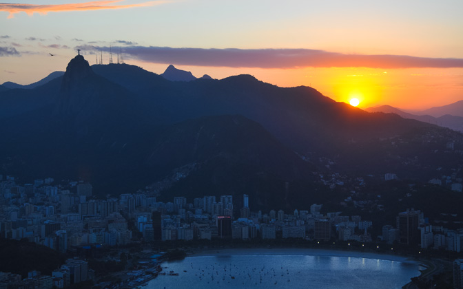 High-resolution desktop wallpaper Sunset in Rio de Janeiro by adrphotos