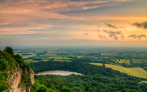 High-resolution desktop wallpaper Sunset from Sutton Bank by Kiseki Studio