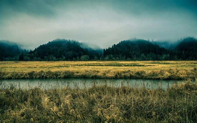 High-resolution desktop wallpaper The River by jdphotopdx