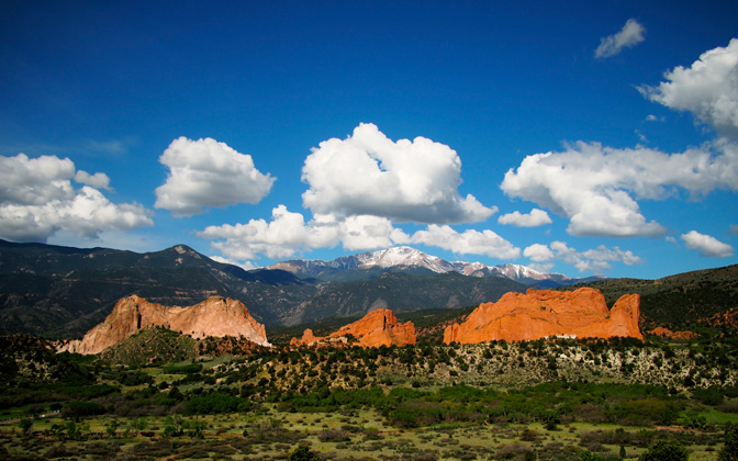 High-resolution desktop wallpaper Garden of the Gods by Jeff VB