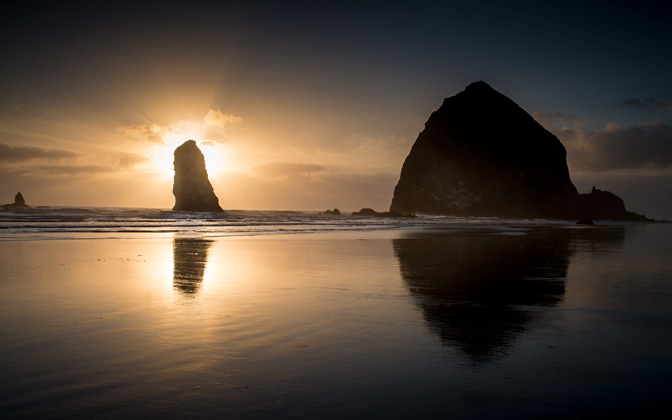 High-resolution desktop wallpaper Cannon Beach by Qingchuan