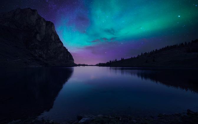 High Resolution Desktop Wallpaper Nightfall At Lake Aurora By Dominic Kamp