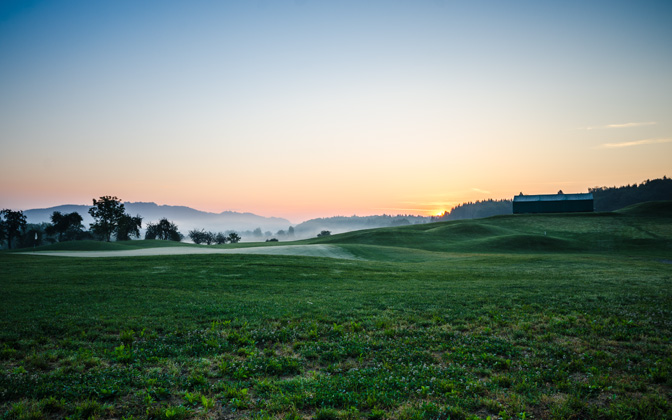 High-resolution desktop wallpaper Sunrise at Golf Course by skopusnik