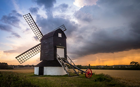 High-resolution desktop wallpaper Pitstone Windmill by kenchie