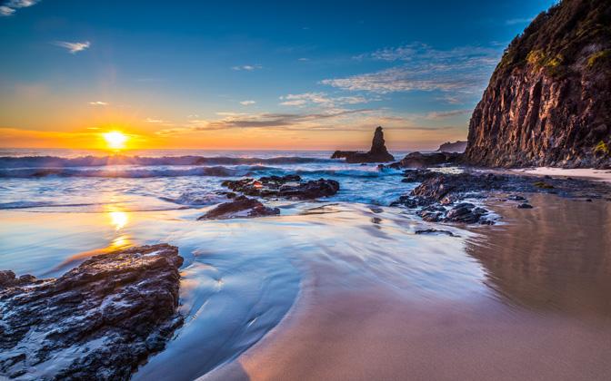 High-resolution desktop wallpaper Jones Beach Sunrise by snowlee