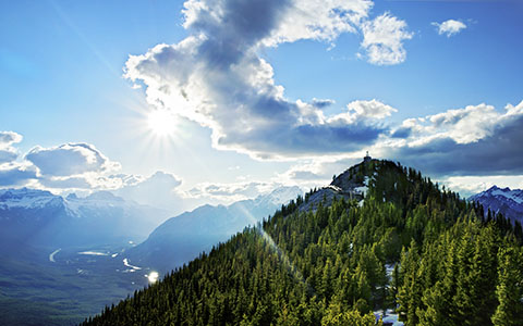 High-resolution desktop wallpaper At Sulphur Mountain by Mohsen Kamalzadeh