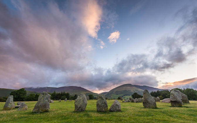 High-resolution desktop wallpaper Daybreak at Castlerigg Stone Circle by kenchie