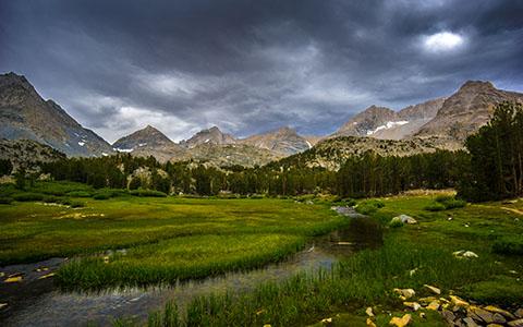 High-resolution desktop wallpaper Stormy Meadow by kevinteusch