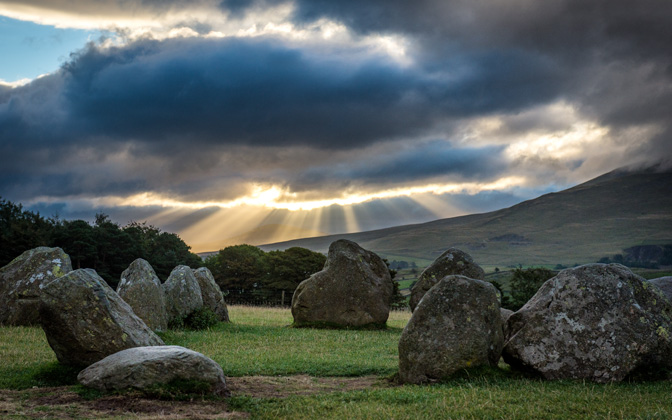 High-resolution desktop wallpaper Dawn at Castlerigg Stone Circle by kenchie