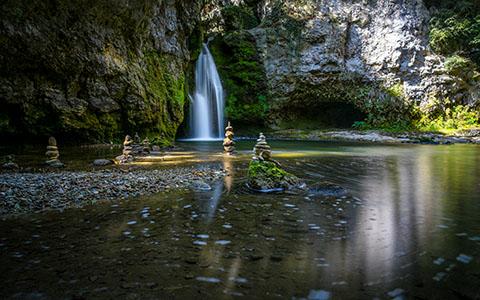 Zen Garden Waterfalls wallpaper