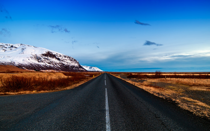 High-resolution desktop wallpaper Icelandic Road by Nitrogliserin