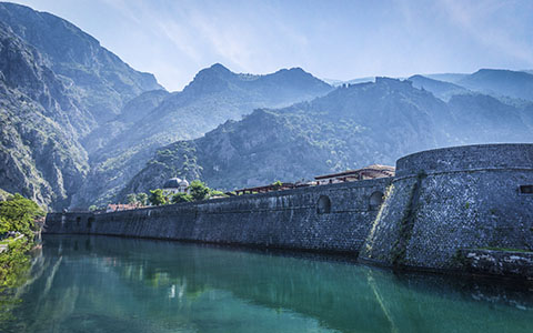 High-resolution desktop wallpaper Kotor city walls - Montenegro by kenchie