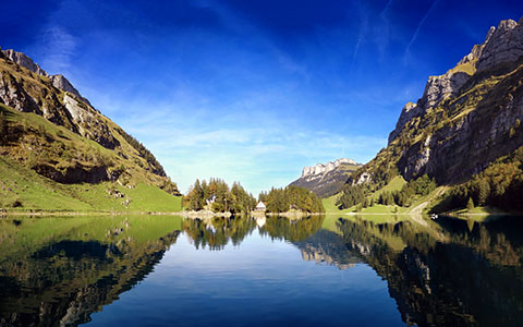High-resolution desktop wallpaper Seealpsee - Late Summer in Switzerland by Dominic Kamp