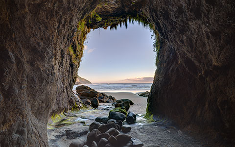 High-resolution desktop wallpaper Cave at Haceta Head by theadaptive