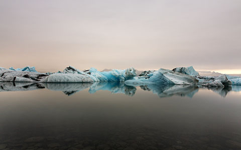 High-resolution desktop wallpaper Glacier Lagoon by Maikel Claassen