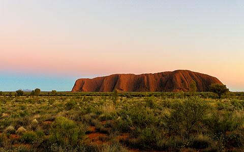 High-resolution desktop wallpaper Uluru Sunrise by edh47742004