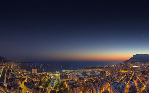 High-resolution desktop wallpaper Monaco Yacht Show Sunset 2014 Twilight by Crevisio