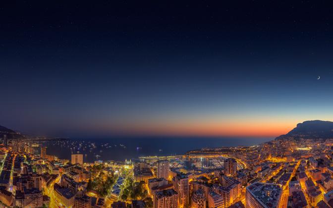 High-resolution desktop wallpaper Monaco Yacht Show Sunset 2014 Twilight by Crevisio
