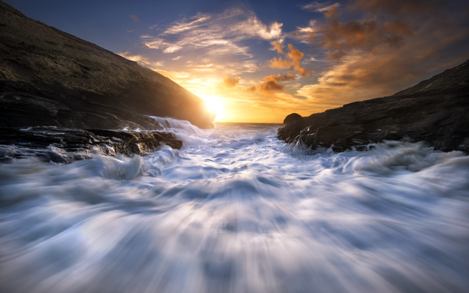High-resolution desktop wallpaper Trebarwith Strand by groove88