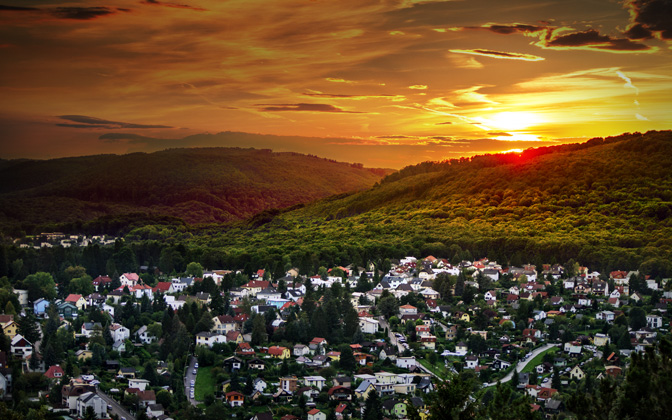 High-resolution desktop wallpaper Austrian Sunset by Mohsen Kamalzadeh