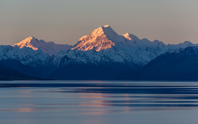 High-resolution desktop wallpaper Mount Cook Sunset by Oliver Buettner // Ascalo Photography