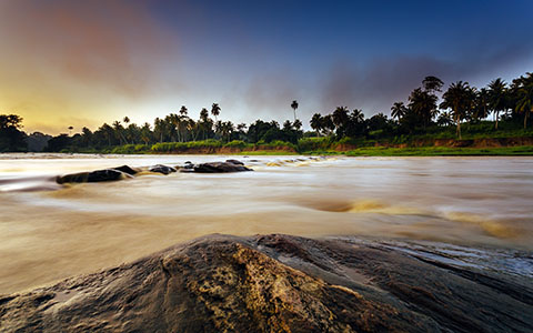 High-resolution desktop wallpaper Pinnawala Sunrise by andrewsparrow