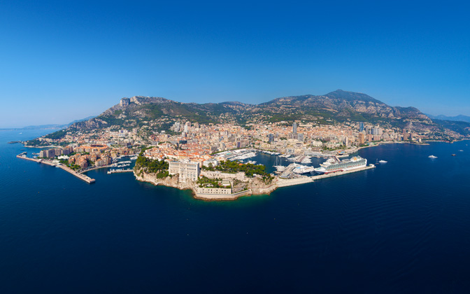 High-resolution desktop wallpaper Bird's Eye Panorama over Monaco by Crevisio