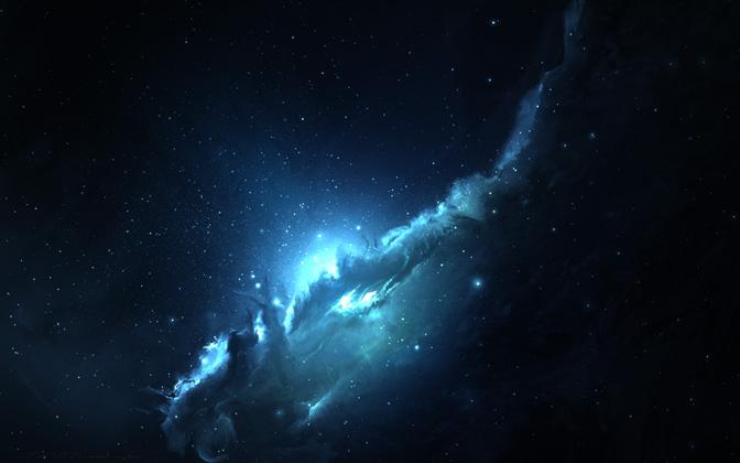 High-resolution desktop wallpaper Atlantis Nebula 3 by Starkiteckt