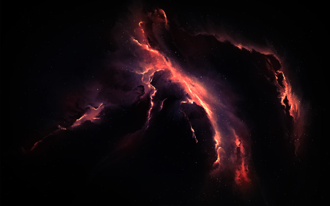 High-resolution desktop wallpaper Vyoletz Nebula by Starkiteckt