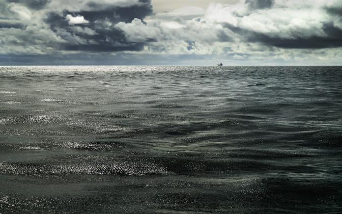 High-resolution desktop wallpaper Lone Ship by Mohsen Kamalzadeh