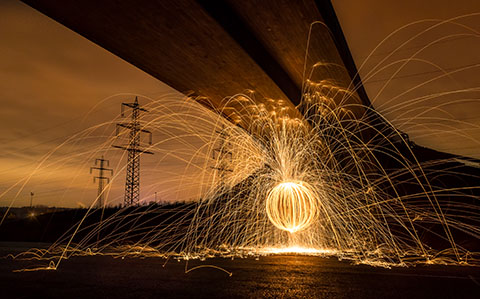High-resolution desktop wallpaper Fire Under The Bridge by Bart_Achilles