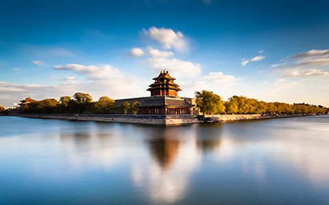High-resolution desktop wallpaper Beijing Forbidden City Moat by bingham008