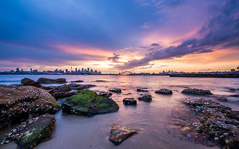 High-resolution desktop wallpaper Pink Sky of Sydney by snowlee