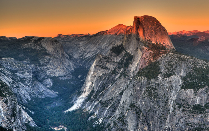 High-resolution desktop wallpaper Glacier Point Sunset by oveinchang