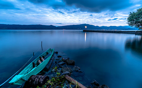 High-resolution desktop wallpaper Samosir View of Lake Toba by Daniel Jiang