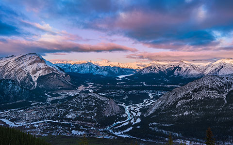 High-resolution desktop wallpaper Bow Valley by Parthiban Mohanraj