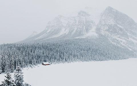 High-resolution desktop wallpaper Winter in Lake Louise, Alberta by Dan Grady