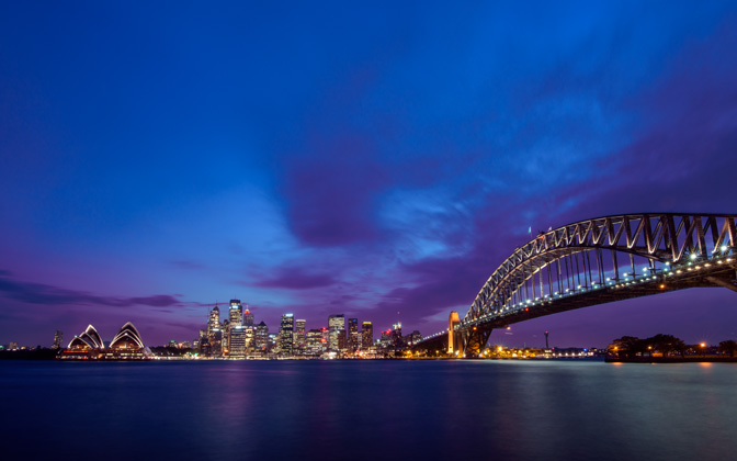 High-resolution desktop wallpaper Sydney at Dusk by johnhmoody