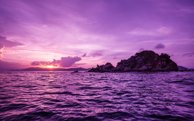 High-resolution desktop wallpaper Pelican Island Sunset by Ben Gustafson