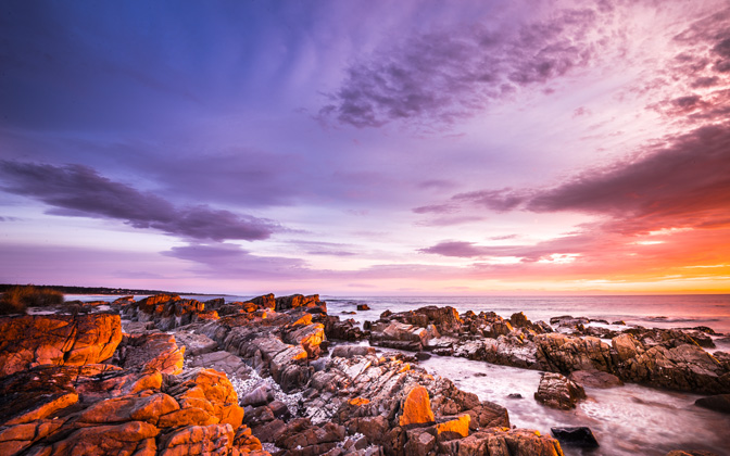 High-resolution desktop wallpaper Bay of Fire - Tasmania by addie dordoma