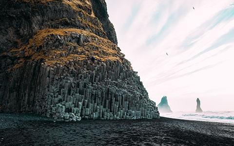 High-resolution desktop wallpaper The Black-Pebble Beach of Reynisfjara by s1000