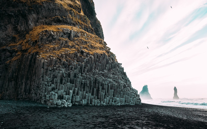 High-resolution desktop wallpaper The Black-Pebble Beach of Reynisfjara by s1000