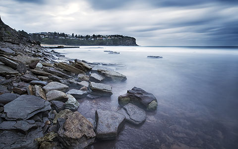 High-resolution desktop wallpaper Whale Beach II by marekadam