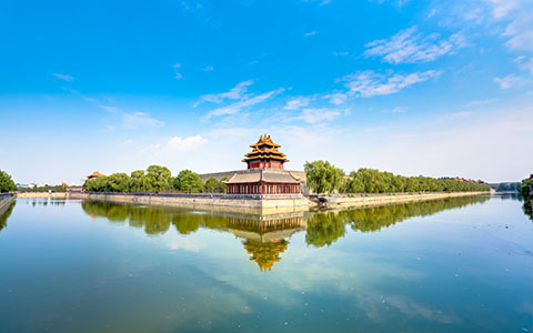 High-resolution desktop wallpaper Forbidden City Corner Building by AMDX1325