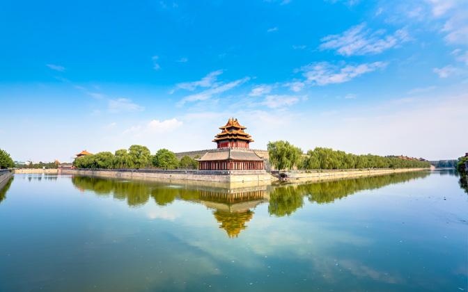 High-resolution desktop wallpaper Forbidden City Corner Building by AMDX1325