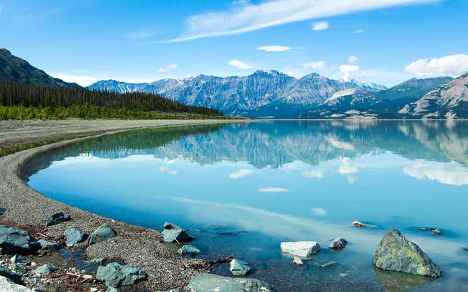 High-resolution desktop wallpaper Reflection in the Yukon by benbrinker