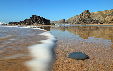 High-resolution desktop wallpaper Gorgeous day at Bedruthan Steps by spitwroot@gmail.com